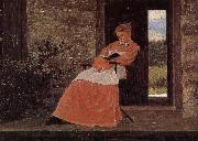 Winslow Homer Girls in reading oil painting reproduction