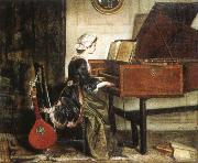 charles burney the harpsichordist oil painting picture wholesale