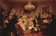 franz von schober a in  a viennese salon oil painting picture wholesale