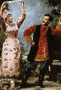 nikolay gogol russian folk dancers oil painting picture wholesale