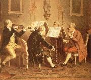 hans werer henze A string quartet of the 18th century oil painting picture wholesale