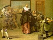 CODDE, Pieter The Dancing Lesson oil painting artist