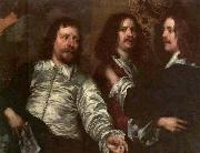 DOBSON, William The Painter with Sir Charles Cottrell and Sir Balthasar Gerbier about oil