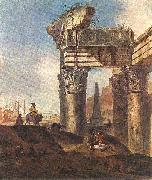 Jan Baptist Weenix Ancient Ruins oil