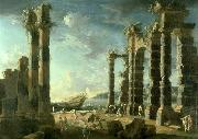 Leonardo Coccorante Port of Ostia in Calm Weather oil painting artist