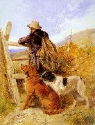 Richard ansdell,R.A. The Gamekeeper oil painting artist