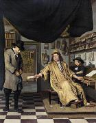 BERCKHEYDE, Job Adriaensz A Notary in His Office oil
