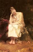 Benjamin Constant Contemplation oil painting artist