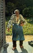 Emile Claus The Old Gardener oil painting artist