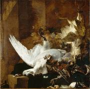 Jan Baptist Weenix Still Life with a Dead Swan oil
