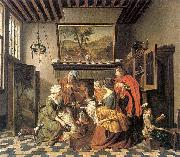 Jan Josef Horemans the Elder Tea Time oil painting artist