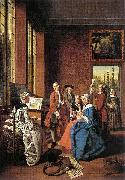 Jan Josef Horemans the Elder Concert in an Interior oil painting artist