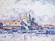Paul Signac red sunset Sweden oil painting artist