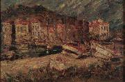 Artist Adolphe Joseph Thomas Monticelli Port of Cassis oil painting