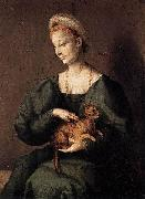 BACCHIACCA Woman with a Cat oil