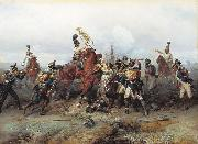 Bogdan Villevalde Feat of Cavalry Regiment at the battle of Austerlitz in 1805. oil painting artist