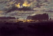 Caspar David Friedrich Northern Sea in the Moonlight oil painting reproduction