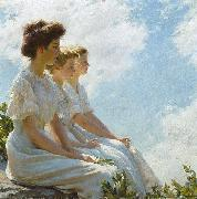 Charles Courtney Curran On the Heights oil
