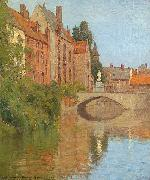 Charles Warren Eaton Bruges oil painting