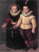 Cornelis Ketel Double Portrait of a Brother and Sister oil