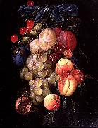 Cornelis de Heem A Garland of Fruit oil