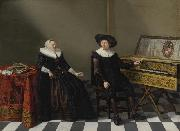 Cornelis van Spaendonck Prints Marriage Portrait of a Husband and Wife of the Lossy de Warin Family oil painting artist