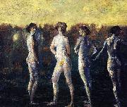 Davies Arthur Bowen Four Figures oil