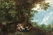 Denys Van Alsloot Extensive Wooded Landscape with Cephalus and Procris oil