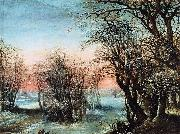Denys Van Alsloot Winter Landscape oil