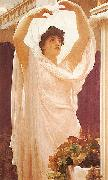 Frederic,lord leighton,p.r.a.,r.w.s English: Invocation oil painting artist