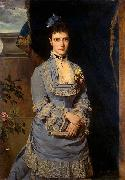 Heinrich von Angeli Portrait of Grand Duchess Maria Fiodorovna oil painting artist