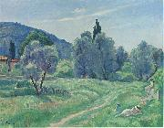 Henri Lebasque Prints Olive Trees in Afternoon at Cannes oil painting artist