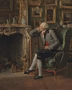 Henri Pierre Danloux The Baron de Besenval in his Study oil painting artist