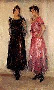 Isaac Israels Two models oil painting artist