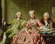 Jacques Charlier Presumed Portrait of the Duc de Choiseul and Two Companions oil painting artist