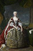 Jean Baptiste van Loo Portrait of Princess Augusta of Saxe Gotha oil painting artist