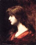 Jean-Jacques Henner Head of a Girl oil painting reproduction