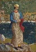 John Augustus Atkinson Woman by a Riverbank oil painting artist