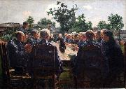 Leon Frederic The Funeral Meal oil painting artist