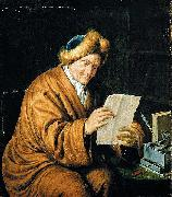 MIERIS, Willem van An Old Man Reading oil painting artist