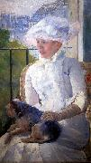 Mary Cassatt Young Girl at a Window oil painting reproduction