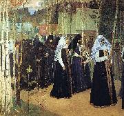 Mikhail Nesterov Taking the Veil oil painting artist