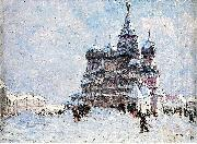 Nikolay Nikanorovich Dubovskoy Red Square Sweden oil painting artist