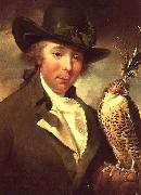 Philip Reinagle Man with Falcon oil painting artist
