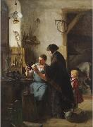 Robert Koehler The Old Sewing Machine oil painting artist