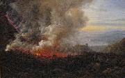 johann christian Claussen Dahl Eruption of Vesuvius oil painting artist