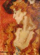 unknow artist Red Lady or The Lady in Red Sweden oil painting artist