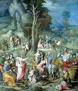 BACCHIACCA The Gathering of Manna oil