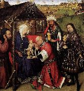 DARET, Jacques Altarpiece of the Virgin oil