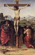Francesco Francia Crucifixion with Sts John and Jerome oil painting artist